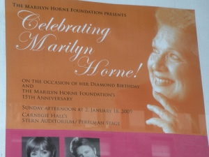Marilyn Horne's gala celebration at Carnegie Hall, January 2009