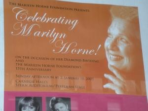 Marilyn Horne's gala celebration at Carnegie Hall, January 2009
